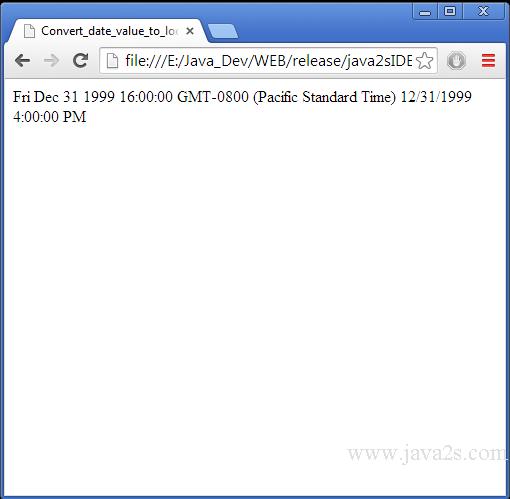 Javascript format date string