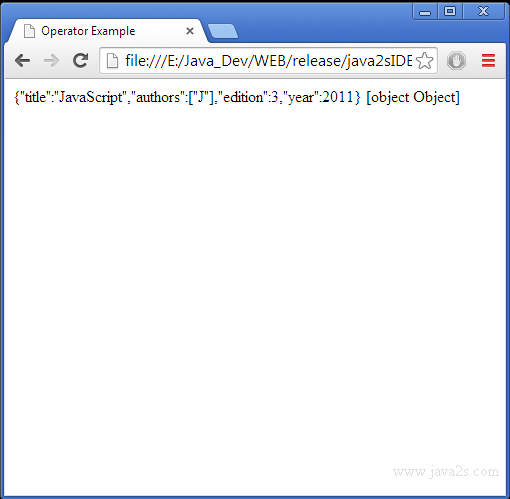 Use JSON parse() to create JSON object from string in JavaScript