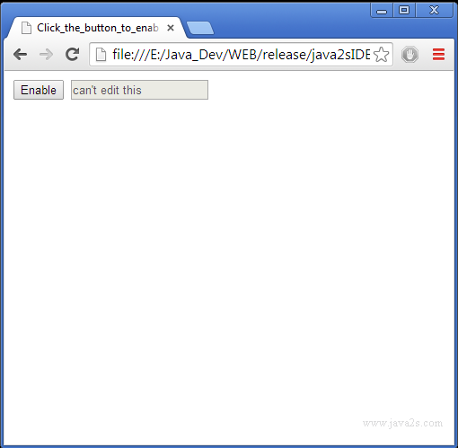 Click The Button To Enable The Input Next To It In JQuery